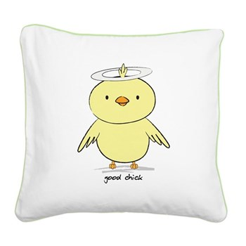 Good Chick Square Canvas Pillow