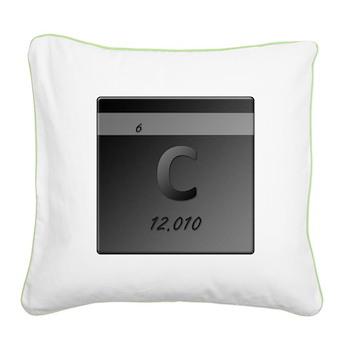 Carbon (C) Square Canvas Pillow
