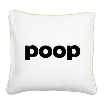Poop Square Canvas Pillow