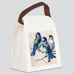 blue birds Canvas Lunch Bag