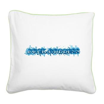 Rock Goddess Square Canvas Pillow
