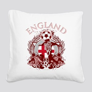 England Soccer Square Canvas Pillow