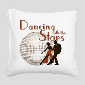 Retro Dancing with the Stars Square Canvas Pillow