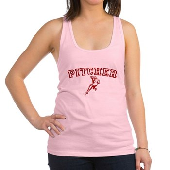 Pitcher - Red Racerback Tank Top