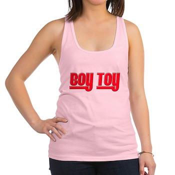 Boy Toy - Red Racerback Tank Top