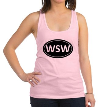 WSW Black Euro Oval Racerback Tank Top