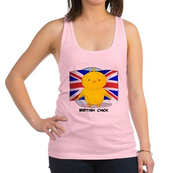 British Chick Racerback Tank Top