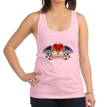 Really? Winged Heart Racerback Tank Top