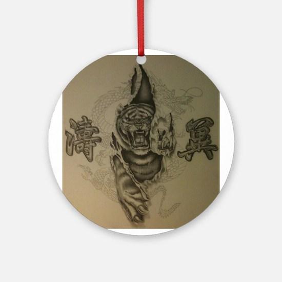 Hardcore Tiger! Ornament (Round)
