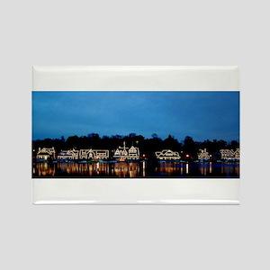 Boathouse Row, Nighttime Panoramic Rectangle Magne