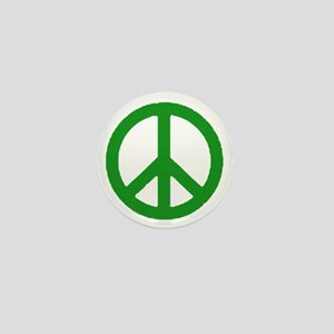 Green Peace sign Mini Button
