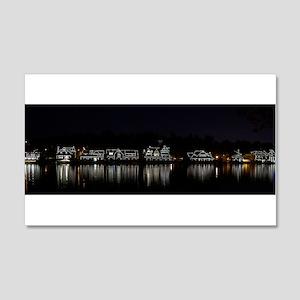 Boathouse Row Night Panoramic 20x12 Wall Decal