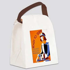 Ready to Serve Canvas Lunch Bag