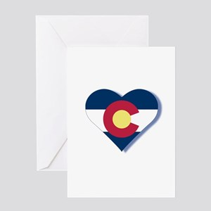 Colorado Flag Heart Greeting Card