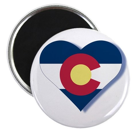"Colorado Flag Heart 2.25"" Magnet (10 pack)"