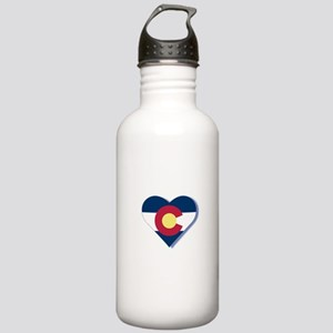 Colorado Flag Heart Stainless Water Bottle 1.0L