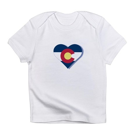 Colorado Flag Heart Infant T-Shirt