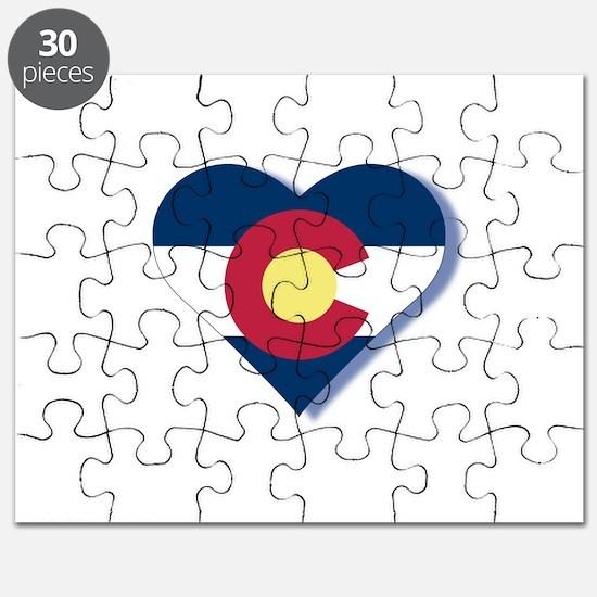 Colorado Flag Heart Puzzle