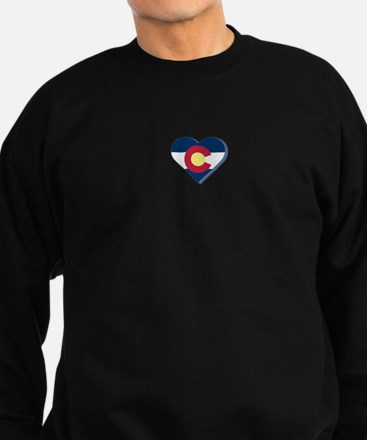 Colorado Flag Heart Sweatshirt (dark)