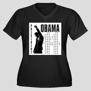 President Obama Women's Plus Size V-Neck Dark T-Sh
