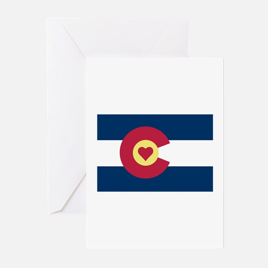 I Love Colorado Greeting Cards (Pk of 20)