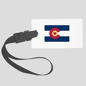 I Love Colorado Large Luggage Tag