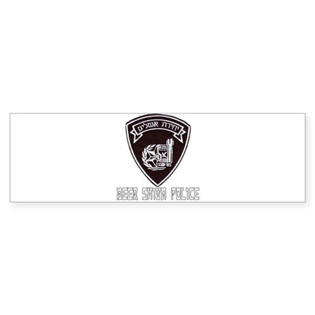 Beer Shiva Police Bumper Sticker