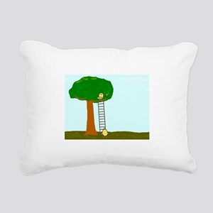 Imitating Bird Rectangular Canvas Pillow