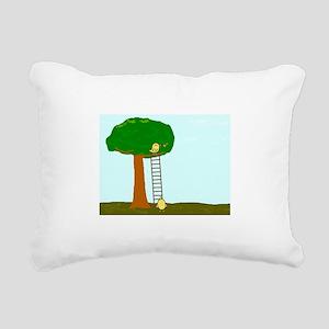 Imitating Bird Rectangular Canvas Pillow