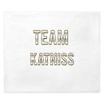 Team Katniss (White Gold) King Duvet