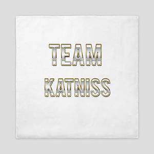 Team Katniss (White Gold) Queen Duvet