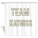 Team Katniss (White Gold) Shower Curtain