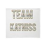 Team Katniss (White Gold) Throw Blanket