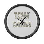 Team Katniss (White Gold) Large Wall Clock