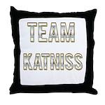 Team Katniss (White Gold) Throw Pillow