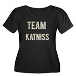 Team Katniss (White Gold) Women's Plus Size Scoop