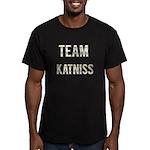 Team Katniss (White Gold) Men's Fitted T-Shirt (da