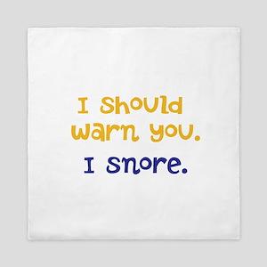 I snore Queen Duvet
