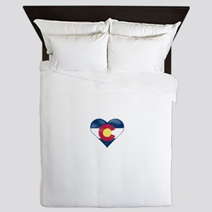 I Love Colorado Queen Duvet