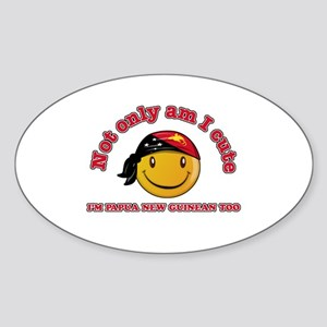 Cute and Papua New Guineas Sticker (Oval)