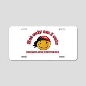 Cute and Papua New Guineas Aluminum License Plate