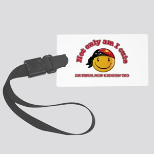 Cute and Papua New Guineas Large Luggage Tag