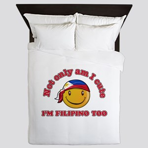 Cute and Filipino Queen Duvet