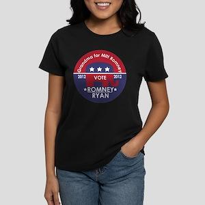 Grandma For Mitt Romney Women's Dark T-Shirt