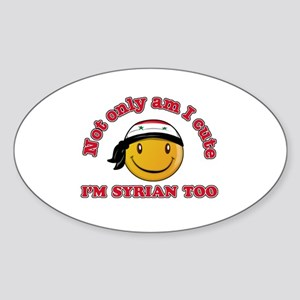 Cute and Syrian Sticker (Oval)