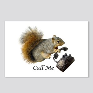 Squirrel Phone Call Postcards (Package of 8)