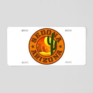 Sedona Desert Circle Aluminum License Plate
