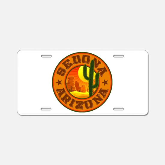 Sedona Desert Circle Aluminum License Plate