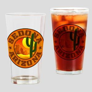 Sedona Desert Circle Drinking Glass