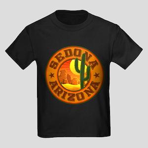 Sedona Desert Circle Kids Dark T-Shirt